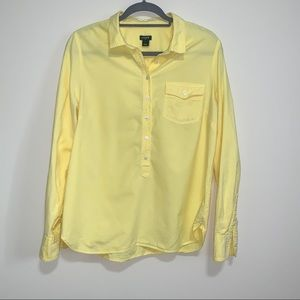 J. Crew Popover Button Down in Yellow Size Large